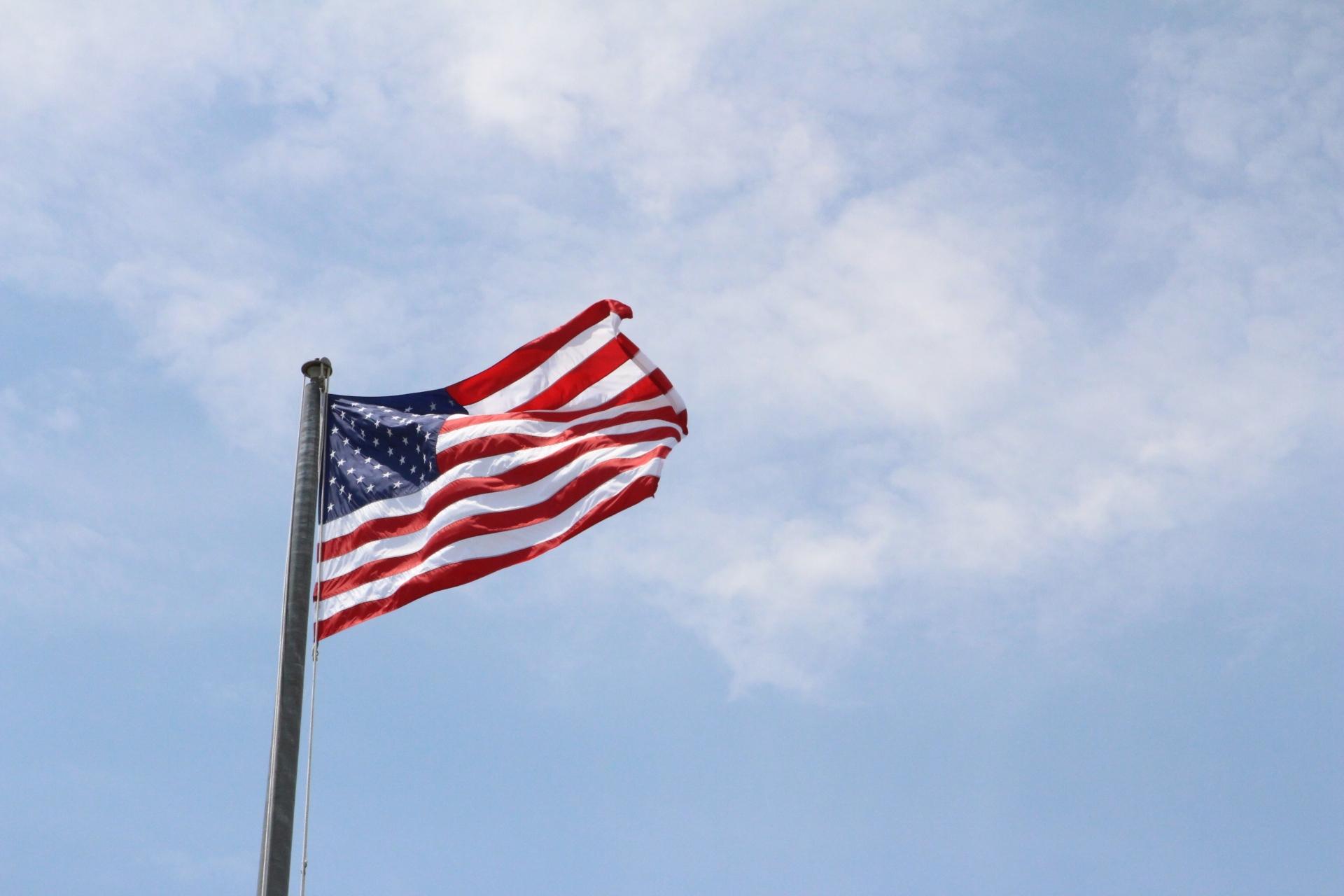 American flag at Montauk