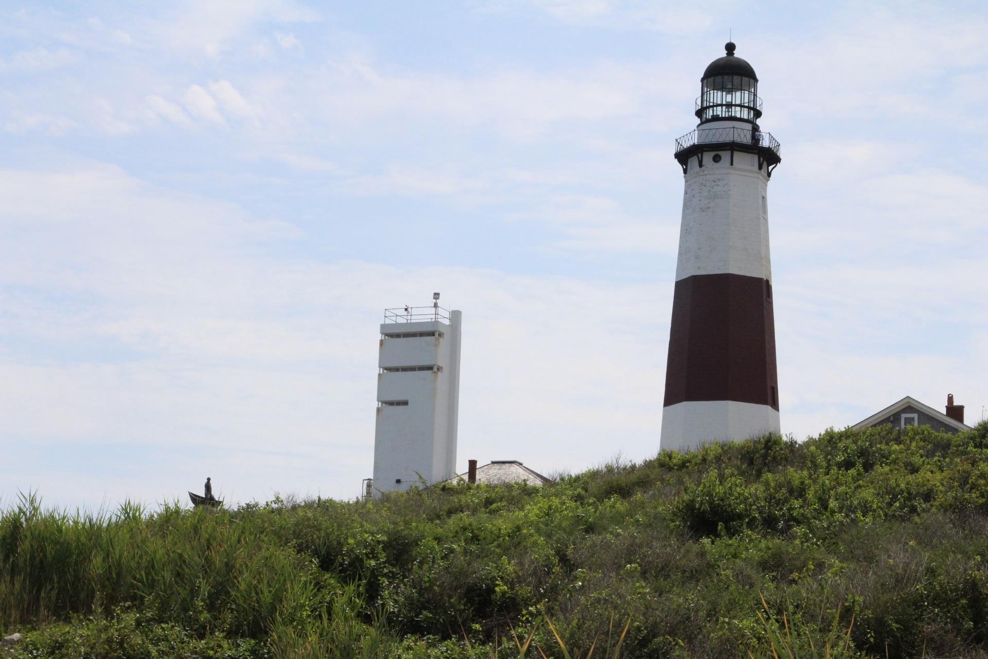 Momtauk Lighthouse on hill_2