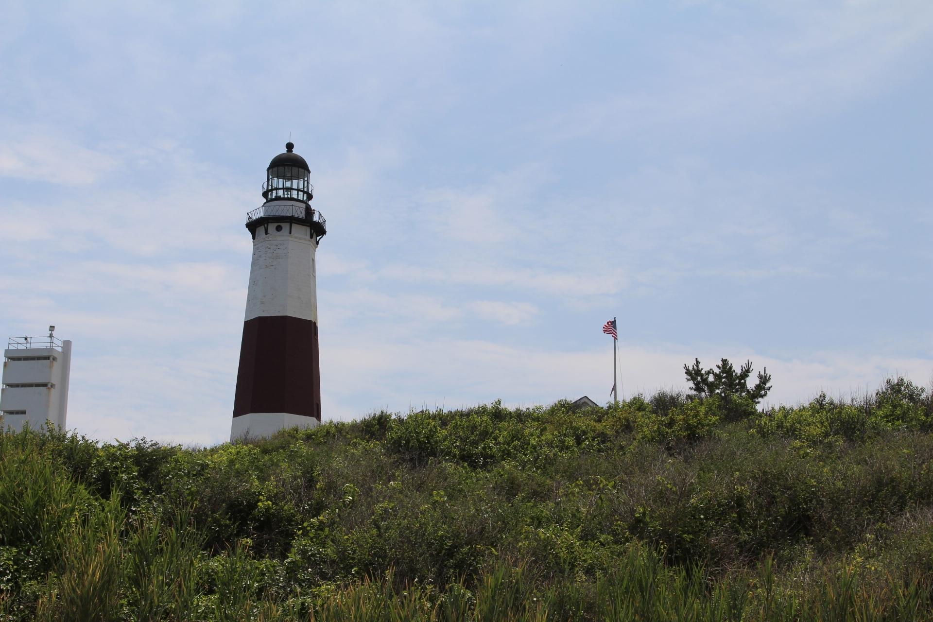 Momtauk Lighthouse on hill_5