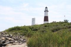Momtauk Lighthouse on hill
