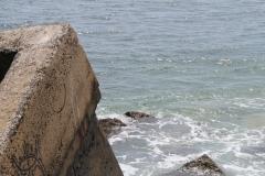 Concrete bunker in sea_montauk_4